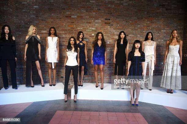 Models pose for the Kimora Lee Simmons Presentation during New York Fashion Week at The Bowery Hotel on September 13 2017 in New York City