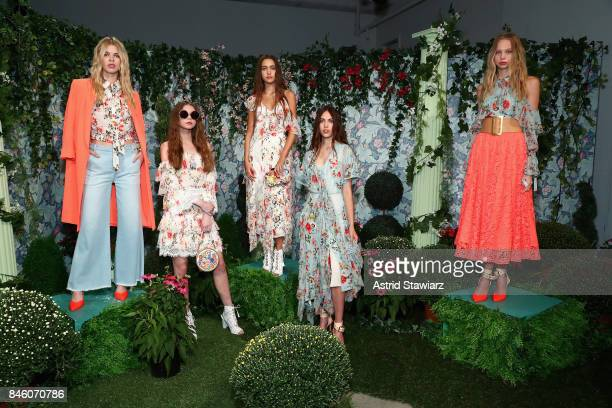 Models pose for TRESemme at Alice Olivia NYFW SS18 Presentation on September 12 2017 in New York City