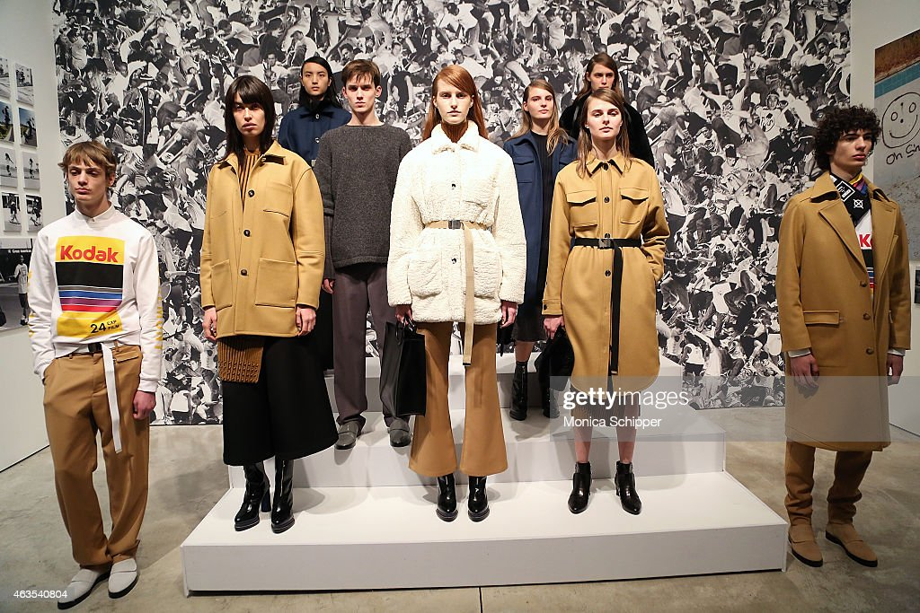 Models pose in the Opening Ceremony presentation during MercedesBenz Fashion Week Fall 2015 on February 15 2015 in New York City