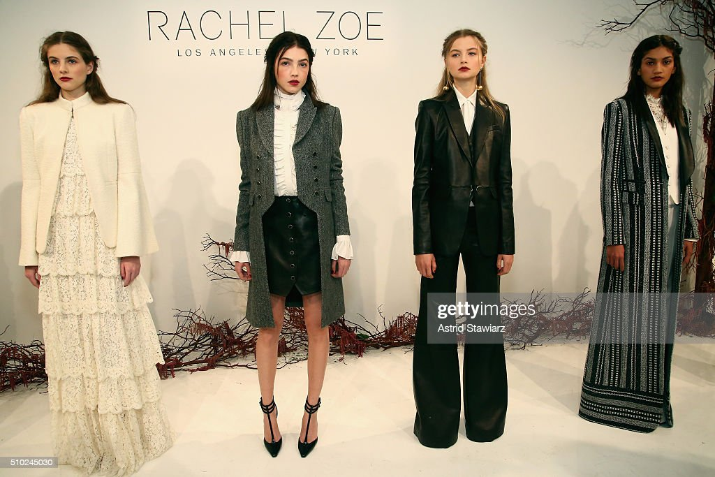 Models pose on the runway with hair by TRESemme at the Rachel Zoe A/W16 Presentation during New York Fashion Week: The Shows at The Space, Skylight at Clarkson Sq on February 14, 2016 in New York City.