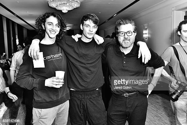 Models pose with Billy Reid at Billy Reid Backstage NYFW Men's at The Cellar at The Beekman on January 30 2017 in New York City