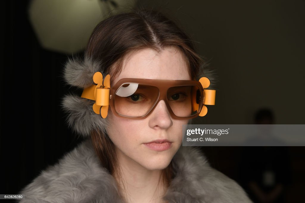 models prepare backstage ahead of the anya hindmarch show during london fashion week february collections