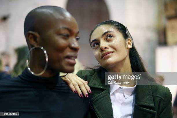 Models prepare backstage ahead of the Christopher Esber show at MercedesBenz Fashion Week Resort 18 Collections at The Clothing Store on May 16 2017...