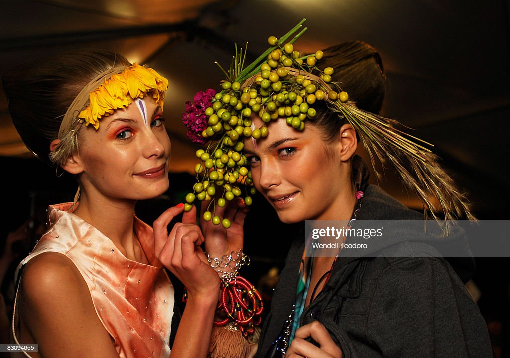 Models prepare backstage ahead of the Easton Pearson show on the third day of Rosemount Australian Fashion Week Spring/Summer 2008/09 Collections at...
