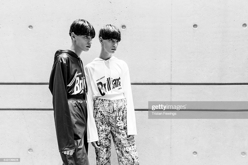 Models prepare backstage ahead of the Kenzo Menswear Spring/Summer 2017 show as part of Paris Fashion Week on June 26, 2016 in Paris, France.