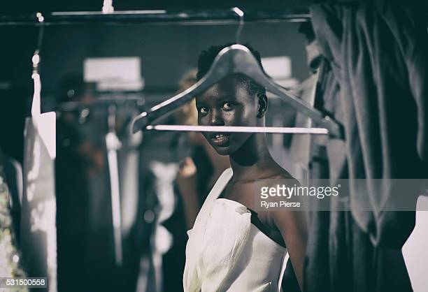 Models prepare backstage during the Maticevski show during MercedesBenz Fashion Week Australia at Barangaroo on May 15 2016 in Sydney New South Wales