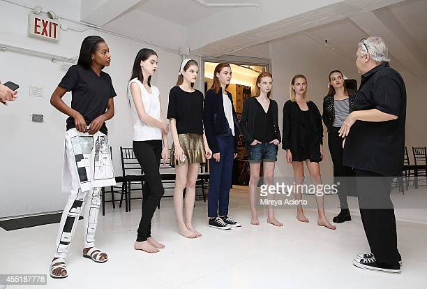 Models prepare for rehearsal before the Organic By John Patrick runway show during MercedesBenz Fashion Week Spring 2015 on September 10 2014 in New...
