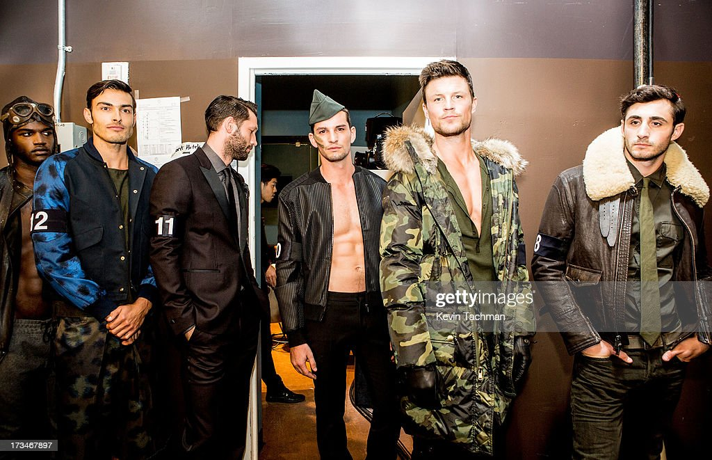 Models prepare to walk the runway during the 4th Annual amfAR Inspiration Gala New York at The Plaza Hotel on June 13, 2013 in New York City.