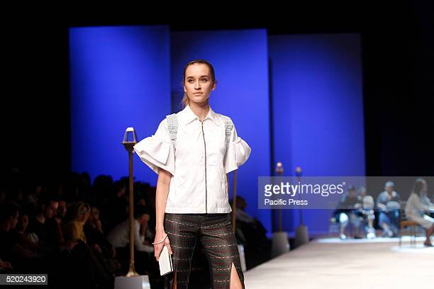 Models present creations by SkyInc during the Indonesia Fashion Week Indonesia Fashion Week theme is Reflections of Culture as local culture and...