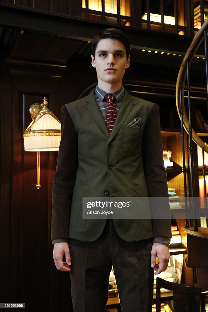 Models present creations during the Bespoken presentation during Fall 2013 Mercedes-Benz Fashion Week at The NoMad Hotel on February 12, 2013 in New York City.