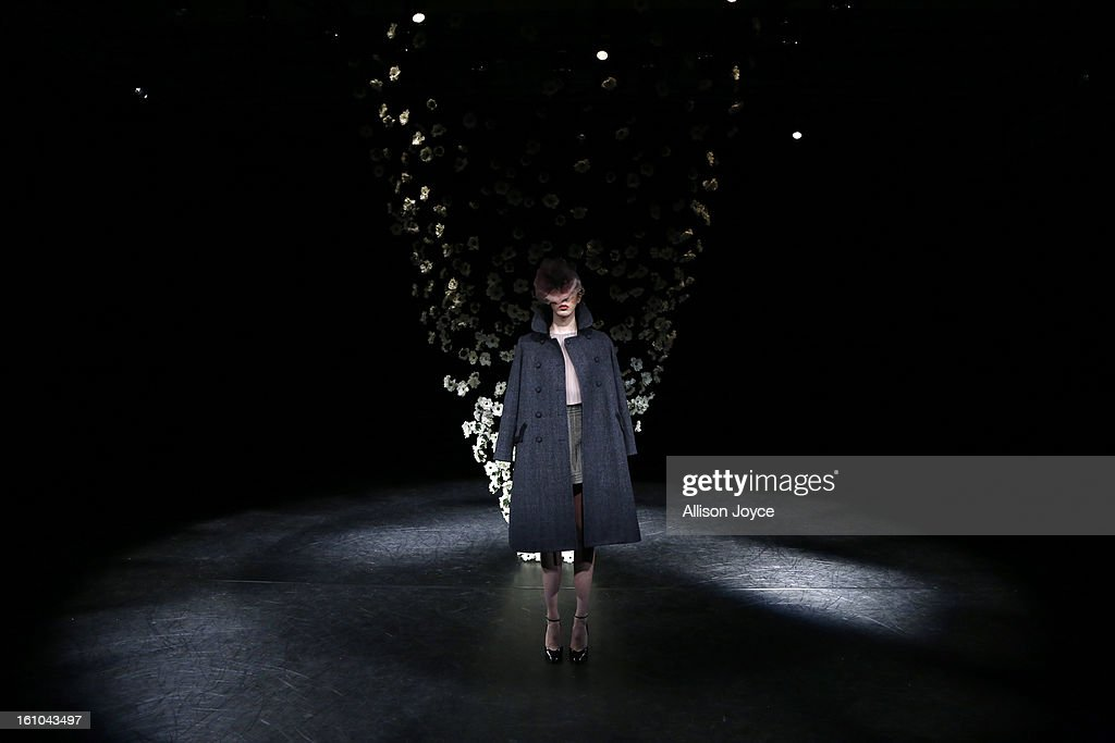 Models present creations during the Tocca fall 2013 presentation during Mercedes-Benz Fashion Week at the Baryshnikov Arts Center on February 8, 2013 in New York City.