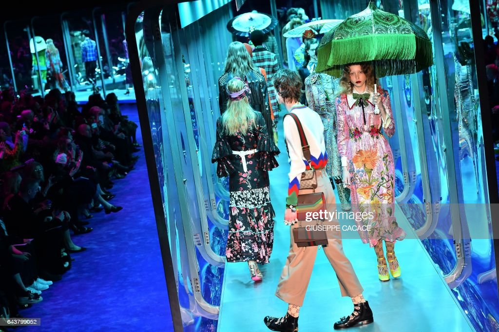Inside Gucci's Eclectic Milan Fashion Week Show