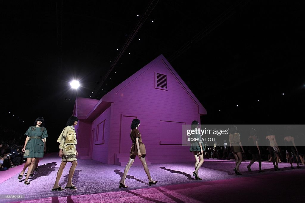 Models present creations from the Marc Jacobs Spring/Summer 2015 collection during New York Fashion Week September 11 2014 in New York AFP...