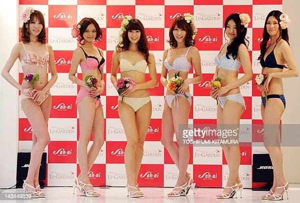 Models present creations of lingerie brands AMPHI CG Club Generation northerly northerly Triumph and AMPHI during the fashion show to commemorate the...