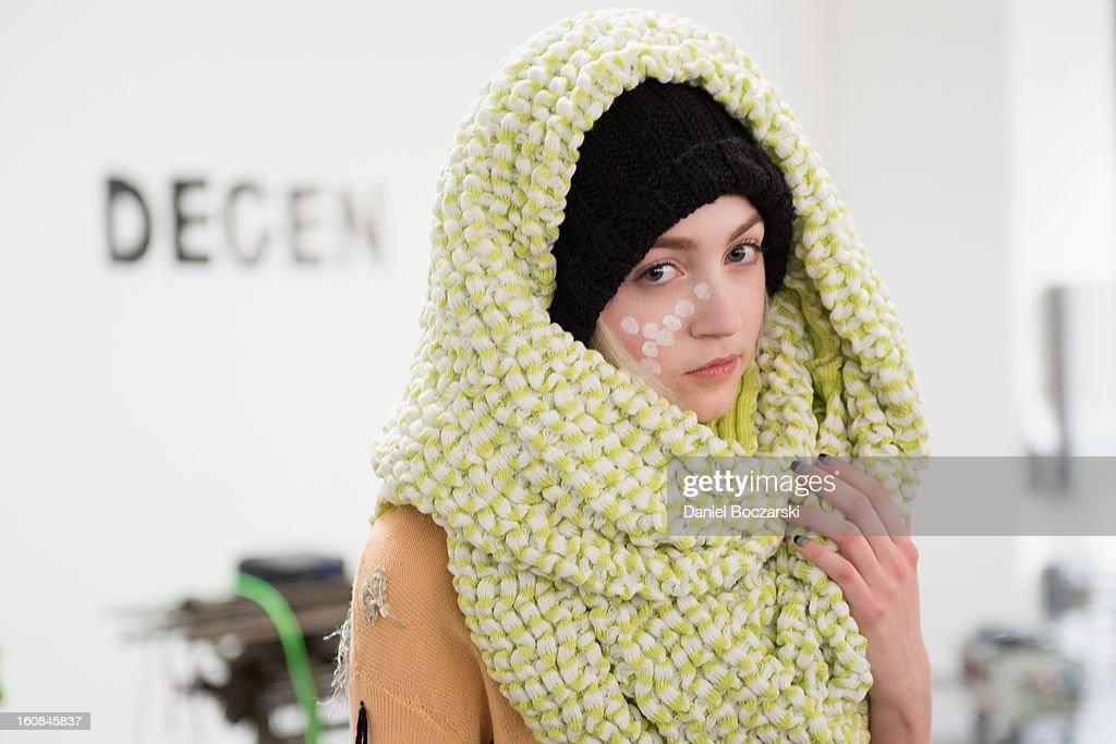 Models present new designs during The Vladar Company Presents Lindsay Degen's Fall/Winter 2013 Collection 'Doctors Degen' at Industria Superstudio on February 6, 2013 in New York City.