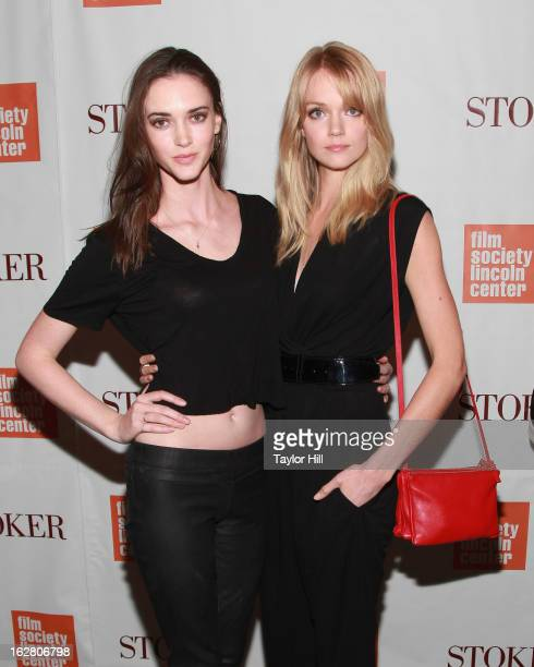 Models Rachel Alexander and Lindsay Ellingson attend the 'Stoker' New York Screening at The Film Society of Lincoln Center Walter Reade Theatre on...