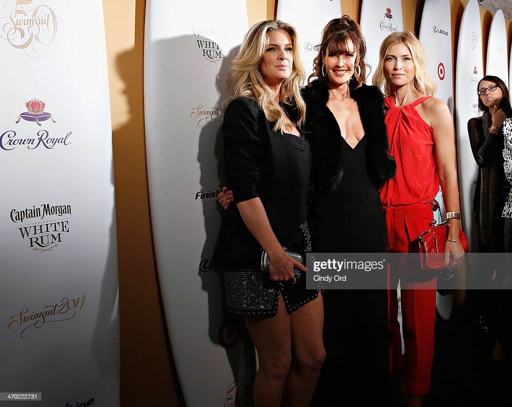 Models <a gi-track='captionPersonalityLinkClicked' href=/galleries/search?phrase=Rachel+Hunter&family=editorial&specificpeople=203027 ng-click='$event.stopPropagation()'>Rachel Hunter</a>, <a gi-track='captionPersonalityLinkClicked' href=/galleries/search?phrase=Carol+Alt&family=editorial&specificpeople=202034 ng-click='$event.stopPropagation()'>Carol Alt</a> and <a gi-track='captionPersonalityLinkClicked' href=/galleries/search?phrase=Daniela+Pestova&family=editorial&specificpeople=240171 ng-click='$event.stopPropagation()'>Daniela Pestova</a> attend as Captain Morgan White Rum and Crown Royal XO raise a glass to the Sports Illustrated Swimsuit 50 Years of Swim Issue at the Sports Illustrated Swimsuit Beach House on February 18, 2014 in New York City.
