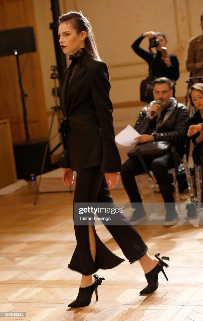 Models rehearse ahead of the Burce Bekrek show during Mercedes-Benz Istanbul Fashion Week March 2017 at Grand Pera on March 20, 2017 in Istanbul, Turkey.