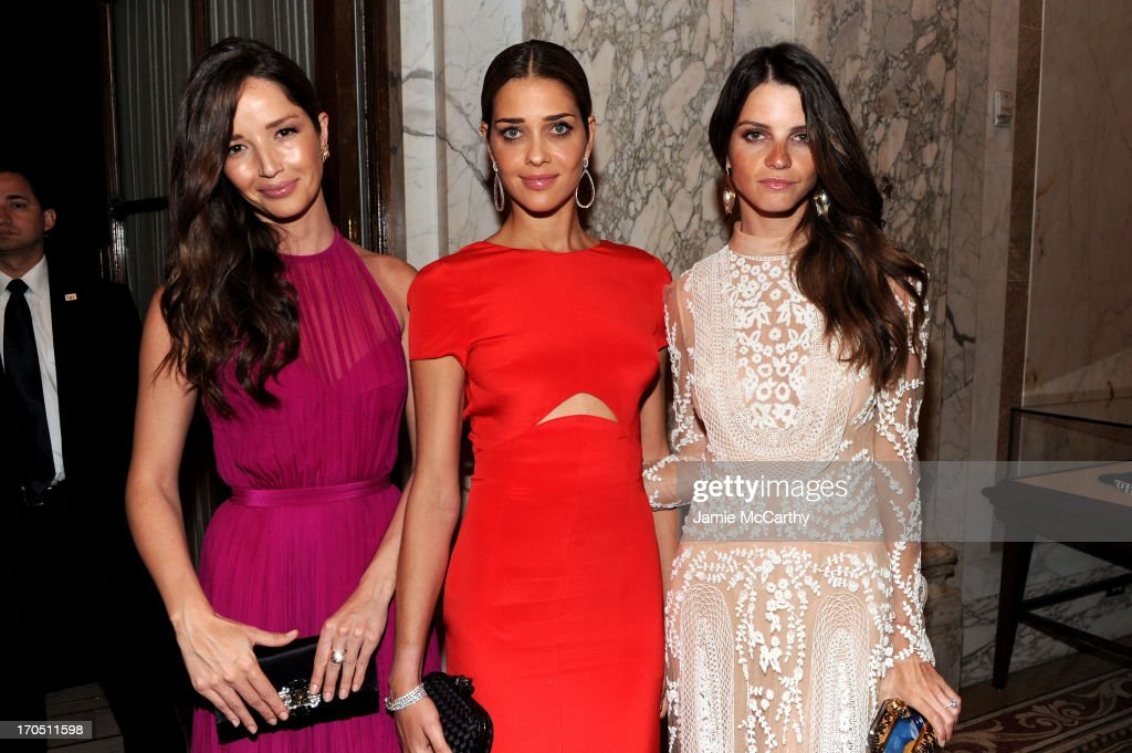 Models Renata Maciel, Ana Beatriz Barros, Jeisa Chiminazzo attend the 4th Annual amfAR Inspiration Gala New York at The Plaza Hotel on June 13, 2013 in New York City.