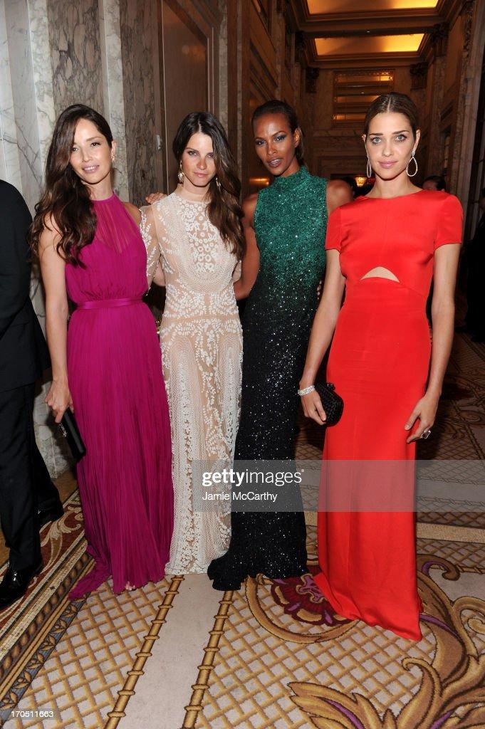 Models Renata Maciel, Jeisa Chiminazzo, Yasmin Warsame and Ana Beatriz Barros attend the 4th Annual amfAR Inspiration Gala New York at The Plaza Hotel on June 13, 2013 in New York City.