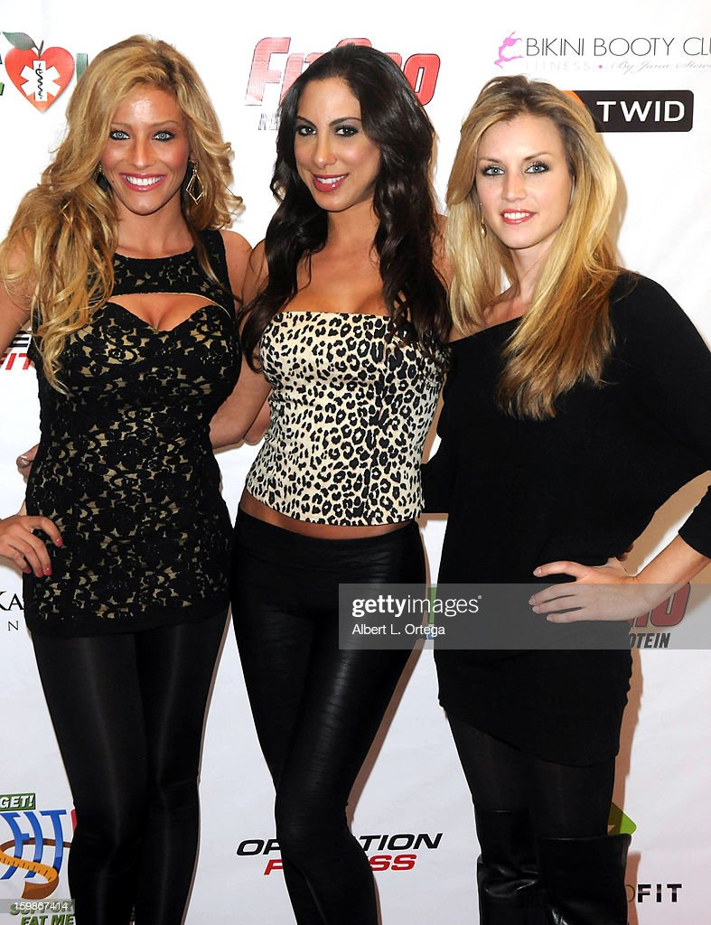 Models Sara Ashlee, Leila Shennib and Tiffany Goodrich participate in the Red Carpet Health Expo held at The Vitamin Shoppe on January 12, 2013 in Los Angeles, California.