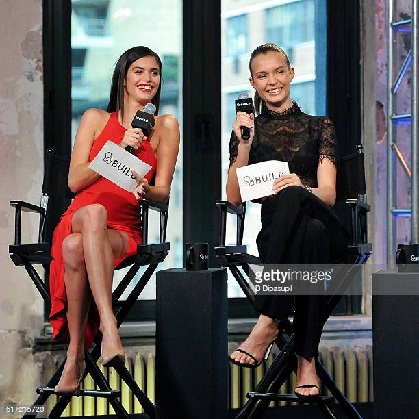 Models Sara Sampaio and Josephine Skriver attend the AOL Build Speaker Series to reveal the Victoria's Secret '2016 What is Sexy List' at AOL Studios...