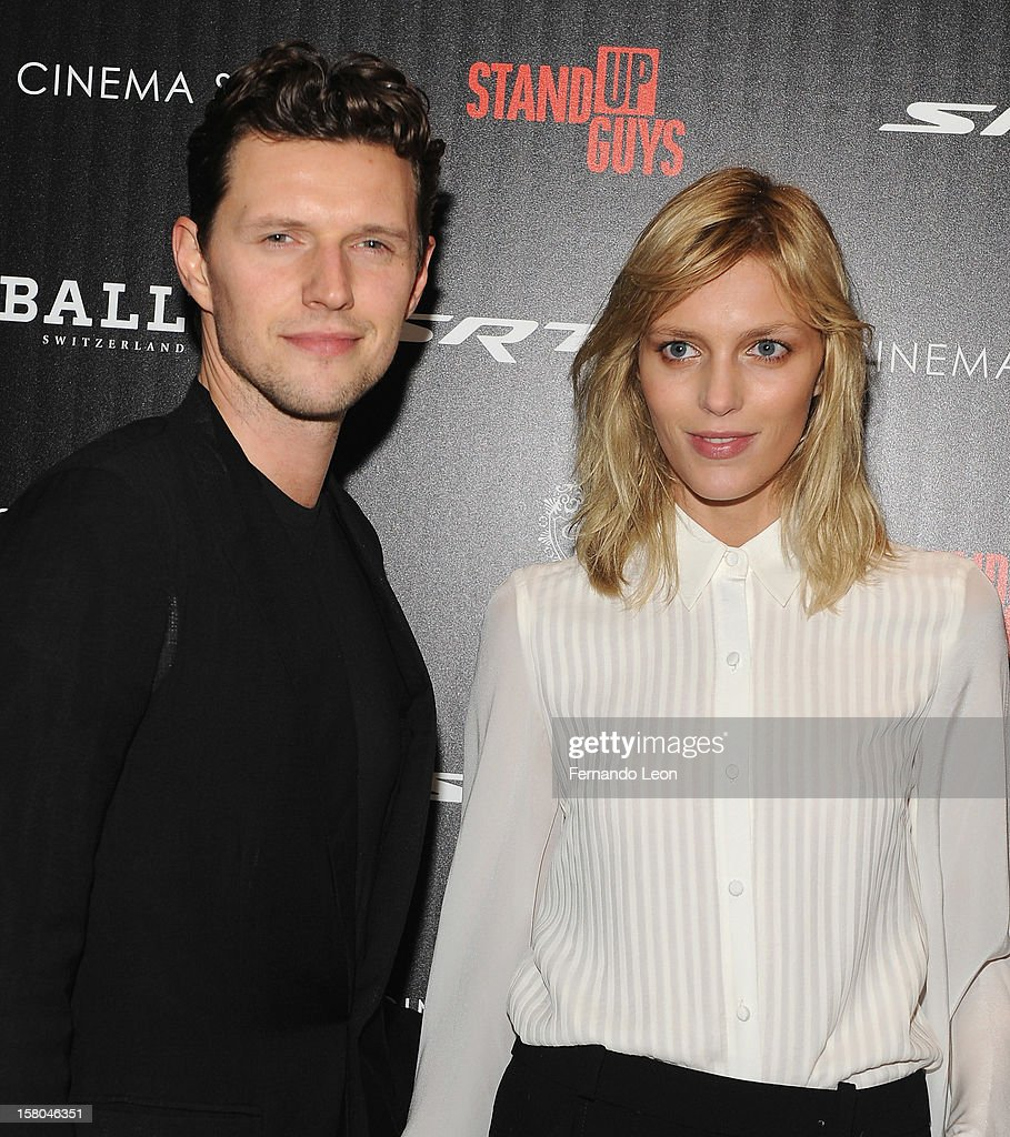 Models Sasha Knezevic and Anja Rubik (R) attend The Cinema Society With Chrysler & Bally Host The Premiere Of 'Stand Up Guys' at MOMA on December 9, 2012 in New York City.