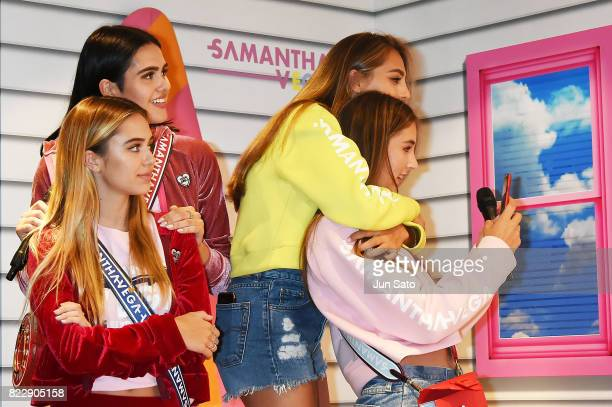 Models Scarlet Stallone Spphia Stallone Delilah Hamlin and Amelia Hamlin attend the 'Samantha Vega' Millennial Sisters talk event at Samantha Thavasa...