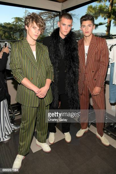 Models seen backstage at the Wolk Morais Collection 5 Fashion Show at Yamashiro on May 22 2017 in Los Angeles California