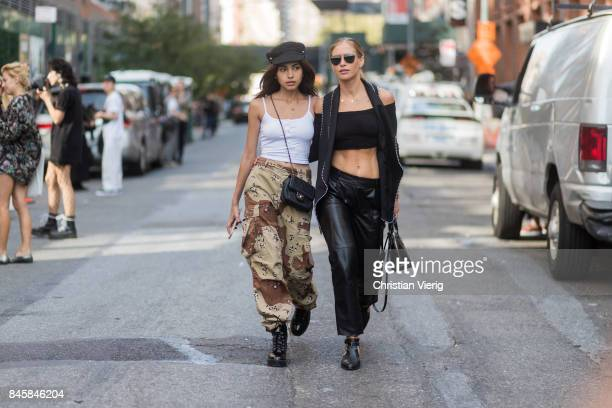 Models seen in the streets of Manhattan outside Phillip Lim during New York Fashion Week on September 11 2017 in New York City