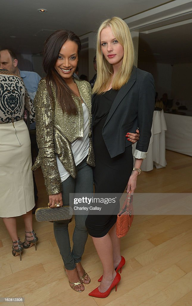 Models <a gi-track='captionPersonalityLinkClicked' href=/galleries/search?phrase=Selita+Ebanks&family=editorial&specificpeople=619483 ng-click='$event.stopPropagation()'>Selita Ebanks</a> (L) and Anne V attend Rachel Roy Celebrates the New Host of 'Fashion Star' Louise Roe at Mondrian Los Angeles on February 27, 2013 in West Hollywood, California.