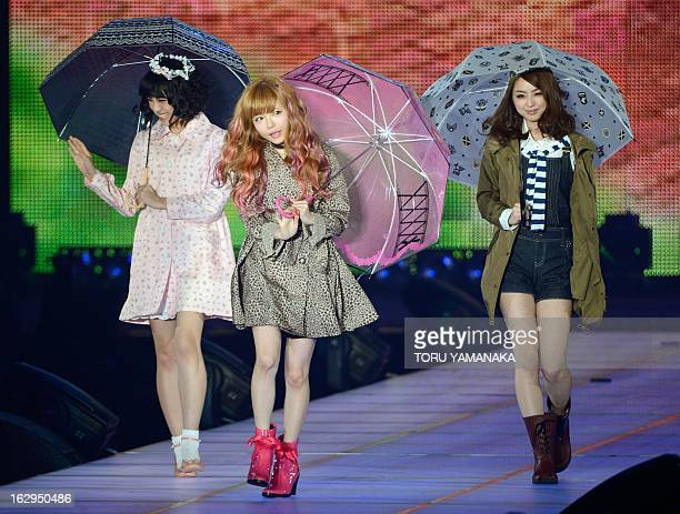 Models show off fashion creations during the 16th Tokyo Girls Collection 2013 Spring/Summer in Tokyo on March 2 2013 AFP PHOTO/Toru YAMANAKA
