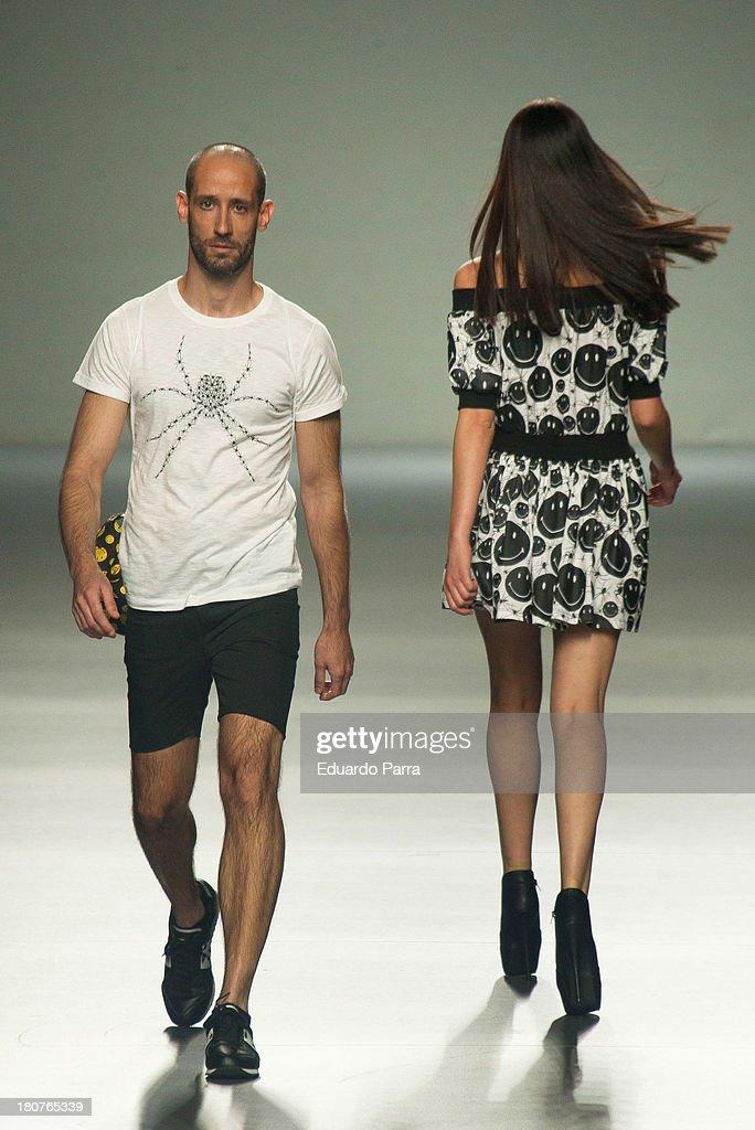 Models showcase designs by Carlos Diez on the runway at Carlos Diez show during Mercedes Benz Fashion Week Madrid Spring/Summer 2014 at Ifema on September 16, 2013 in Madrid, Spain.