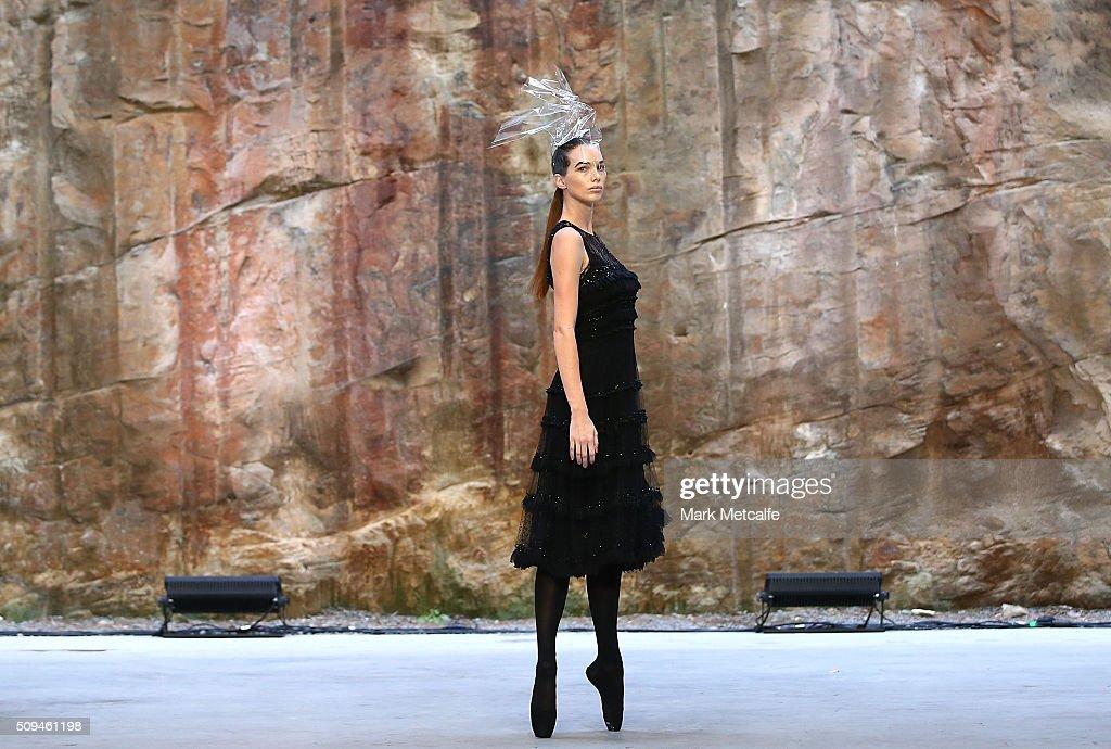 Models showcase designs by Oscar de la Renta during rehearsal ahead of the Myer AW16 Fashion Launch on February 11, 2016 in Sydney, Australia.