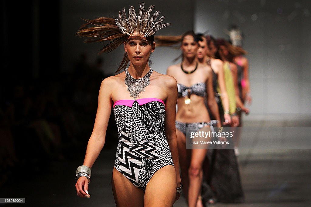 Models showcase designs by Wild Pony on the runway during Fashion Palette 2013 on March 7, 2013 in Sydney, Australia.