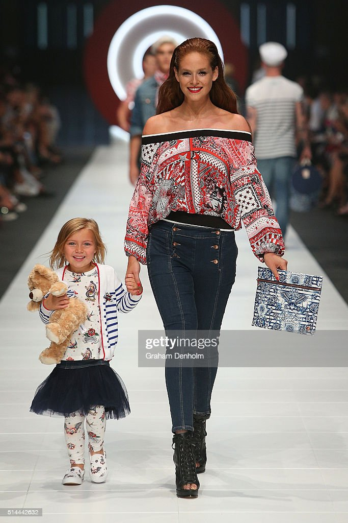 Models showcase designs during the Jean Paul Gaultier x Target Launch during Melbourne Fashion Festival on March 9, 2016 in Melbourne, Australia.