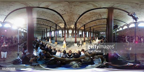 Models showcase designs during the KITX show during MercedesBenz Fashion Week Australia at Paddington Reservoir on May 18 2016 in Sydney New South...