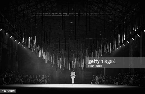 Models showcase designs during the Manning Cartell show at MercedesBenz Fashion Week Australia 2015 at Carriageworks on April 15 2015 in Sydney...