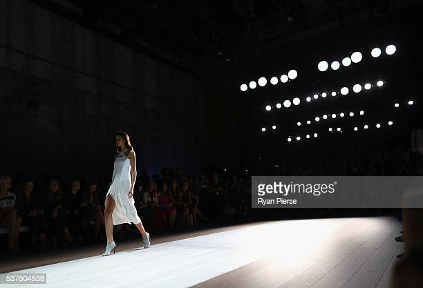 Models showcase designs during the Yeojin Bae show during MercedesBenz Fashion Week Australia at Carriageworks on May 16 2016 in Sydney New South...