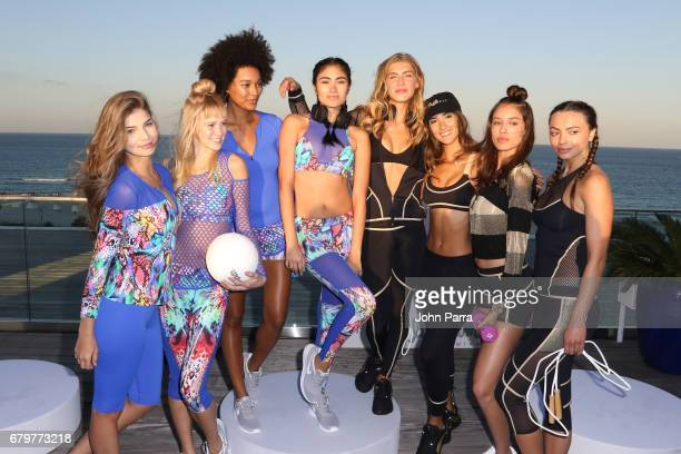 Models showcase looks at Luli Fit By Luli Fama Fashion Presentation May 2017 The Retreat Athleisure Experience Presented By FUNKSHION at Nautilus on...