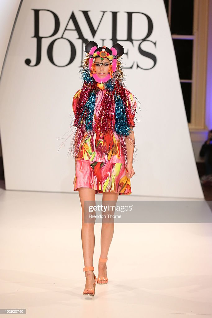 Models showcases designs by Romance Was Born at the David Jones Spring/Summer 2014 Collection Launch at David Jones Elizabeth Street Store on July 30...