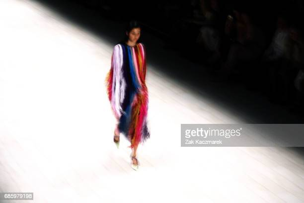 A models showcases designs by Romance was Born during MercedesBenz Fashion Week Weekend Edition at Carriageworks on May 20 2017 in Sydney Australia