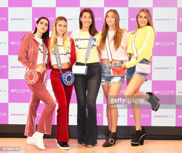 Models Sophia Stallone and Scarlet Stallone Sumire Delilah Hamlin and Amelia Hamlin attend the 'Samantha Vega' Millennial Sisters talk event at...