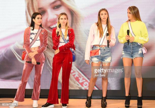 Models Sophia Stallone Scarlet Stallone Delilah Hamlin and Amelia Hamlin attend the 'Samantha Vega' Millennial Sisters talk event at Samantha Thavasa...