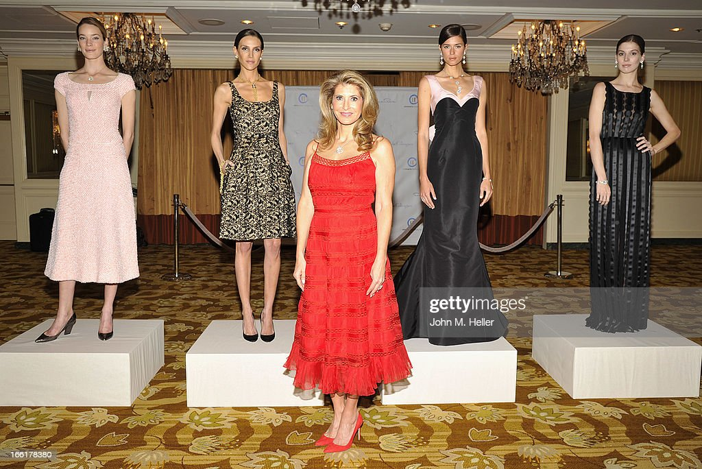 Models Stacy Lobb, Jenna Hurt, President of the Colleagues Alexandra Dwek, models Beth Ostenddorf and Michelle Box attend the 25th annual Colleagues Luncheon at the Beverly Wilshire Hotel on April 9, 2013 in Beverly Hills, California.