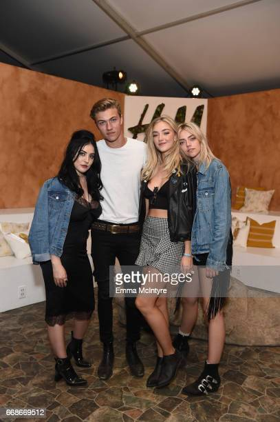 Models Starlie Smith Lucky Blue Smith Daisy Smith and Pyper Smith attend HM Loves Coachella Tent during day 1 of the Coachella Valley Music Arts...