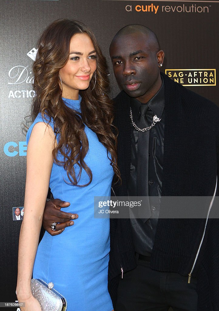 Models Stephanie Murone (L) and <a gi-track='captionPersonalityLinkClicked' href=/galleries/search?phrase=Sam+Sarpong&family=editorial&specificpeople=643843 ng-click='$event.stopPropagation()'>Sam Sarpong</a> attend The 6th Annual Diamond In The RAW-Action Icon Awards at Skirball Cultural Center on November 10, 2013 in Los Angeles, California.