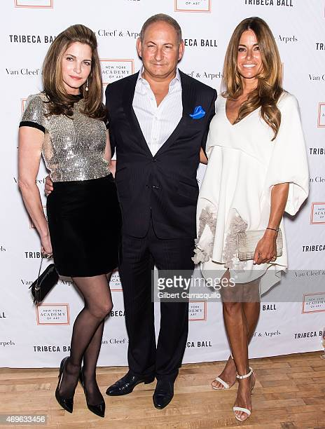 Models Stephanie Seymour John Demsey and model Kelly Bensimon attend the 2015 Tribeca Ball at New York Academy of Art on April 13 2015 in New York...