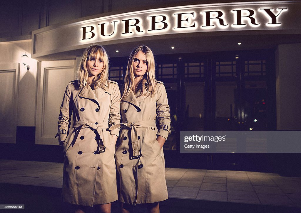 Models Suki Waterhouse and Cara Delevingne attend the Burberry brings London to Shanghai event on April 24 2014 in Shanghai China