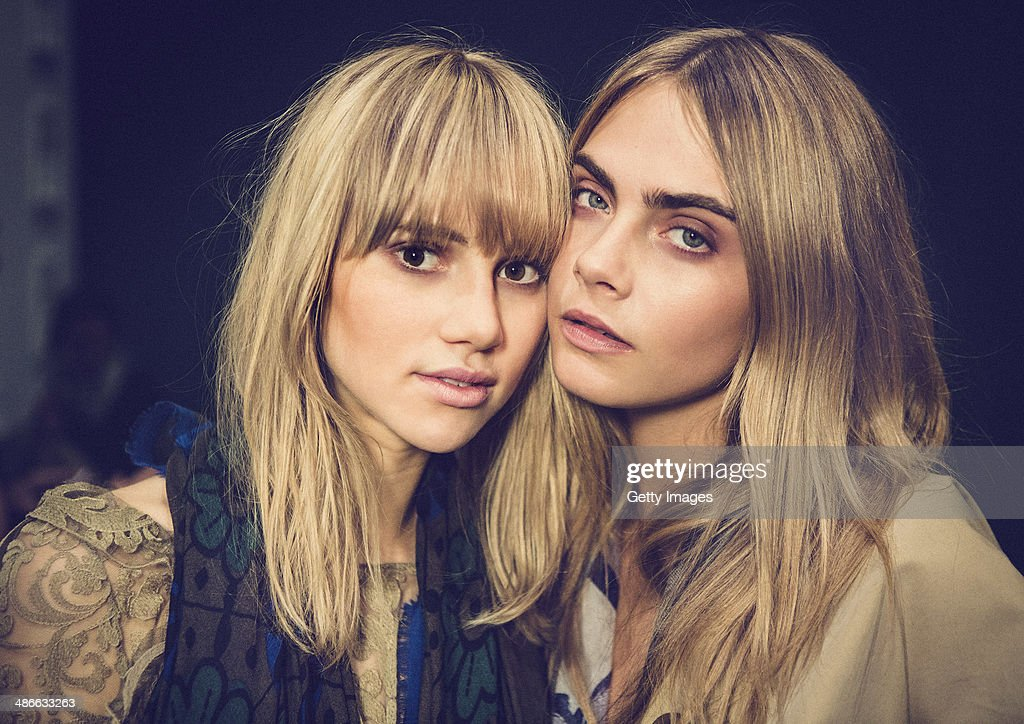 Models <a gi-track='captionPersonalityLinkClicked' href=/galleries/search?phrase=Suki+Waterhouse&family=editorial&specificpeople=7591336 ng-click='$event.stopPropagation()'>Suki Waterhouse</a> and <a gi-track='captionPersonalityLinkClicked' href=/galleries/search?phrase=Cara+Delevingne&family=editorial&specificpeople=5488432 ng-click='$event.stopPropagation()'>Cara Delevingne</a> attend the Burberry brings London to Shanghai event on April 24, 2014 in Shanghai, China.